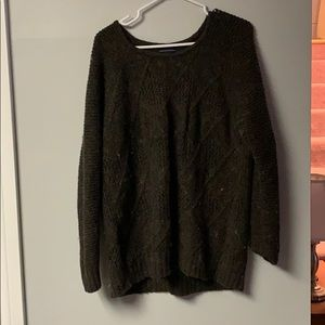 American Eagle Brown Knit Sweater